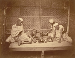Chanda [opium] smokers, Eastern Bengal.